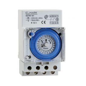 Elmark SGTM-181 - analoge schakelklok met batterij en daginstelling - 16A - 230V