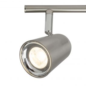Brilliant Nifty - opbouwspot 2L - 35 x 13 x 13 cm - 2 x 4W LED incl. - satijn chroom