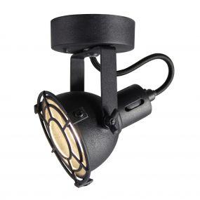 Brilliant Jesper - opbouwspot - 9 x 10,5 x 15 cm - 4W LED incl. - zwart korund