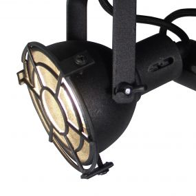 Brilliant Jesper - opbouwspot 2L - Ø 20 x 15 cm - 2 x 4W LED incl. - zwart korund