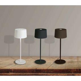 ONE Light Portable Trendy Light - buiten tafellamp - oplaadbaar via USB-kabel - Ø 11 x 35 cm - 3,3W dimbare LED incl. - IP65 - roestbruin