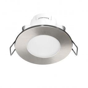 Energetic Lighting Antarctica - inbouwspot -  Ø 83 mm, Ø 65mm inbouwmaat - 4,6W LED incl. - IP65 - geborsteld nikkel
