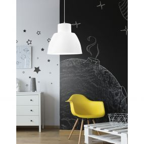 Nova Luce Vince - hanglamp - Ø 40 x 130 cm - wit