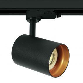 ONE Light Dark Light GU10 - track spot - 3-fase railsysteem - Ø 6,8 x 10 cm - zwart