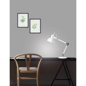 Nova Luce Dunik - bureaulamp - 34 x 34 x 50 cm - wit