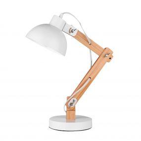 Nova Luce Lila - tafellamp - 59 cm - wit en bruin