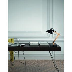 Nova Luce Lila - tafellamp - 59 cm - zwart en bruin