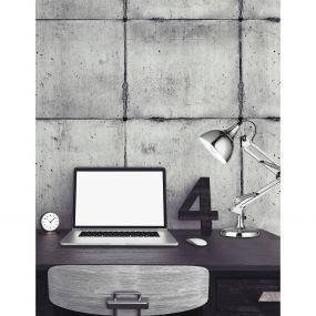 Nova Luce Molla - bureaulamp - 14 x 14 x 54 cm - chroom