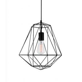 Nova Luce Pietra - hanglamp - Ø 35 x 120 cm - zwart