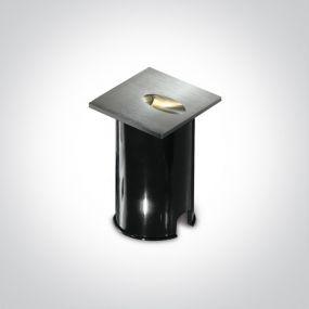ONE Light Indoor/Outdoor Dark Light Wall Recessed - inbouw wandverlichting - 7 x 4,5 x 7 cm - 3W LED incl. - IP54 - aluminium