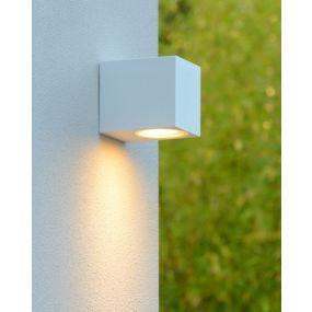 Lucide Zaro - buiten wandlamp - 7,8 x 6,8 x 10 cm - IP44 - wit