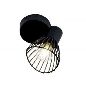 Brilliant Elhi - opbouwspot 1L - 11,5 x 9 x 14,5 cm - zwart