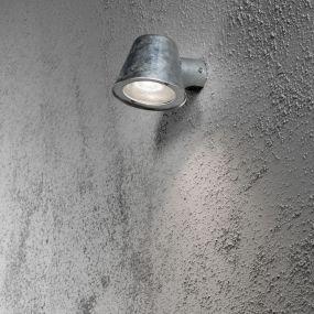 Konstsmide Trieste - wandverlichting - 16 x 11 x 11,5 cm - IP44 - gegalvaniseerd staal