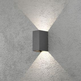 Konstsmide Cremona - wandverlichting met 2 regelbare lichtbundels - 11 x 17 x 8 cm - 6W LED incl. - IP54 - antraciet