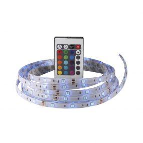 Nordlux Nimba - LED strip met afstandsbediening - 1cm breed, 300cm lengte - dimbaar - 20W LED - IP65 - RGB - via stekker