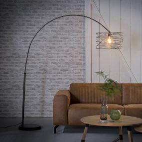 Vico Curl - staanlamp - 170 x 192 cm - houtskool