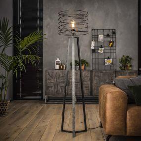 Vico Curl - staanlamp - 162 cm - houtskool