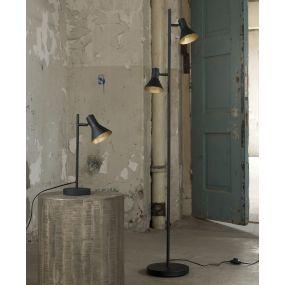 Vico Cup 2 - staanlamp - 143 cm - zwart en goud