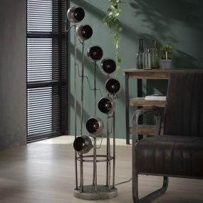 Vico Spiralo - Vloerlamp - Ø 34 x 131 cm - oud zilver