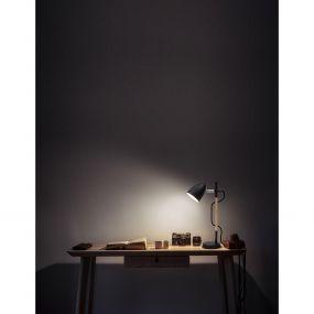 Nova Luce Alina - bureaulamp - 13 x 13 x 42 cm - zwart en bruin