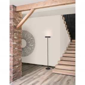 Nova Luce Viti - staanlamp - 170 cm - 18W LED incl. - zand zwart