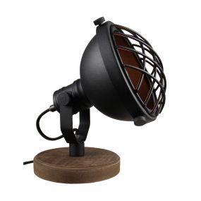 Brilliant Mila - tafellamp - 21 cm - zwart korund