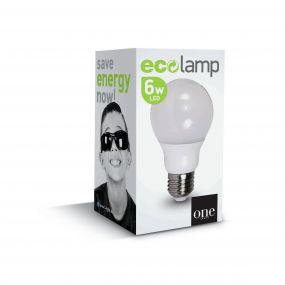 ONE Light Classic LED lamp - Ø 6 x 11 cm - E27 - 6W - niet-dimbaar - 2700K