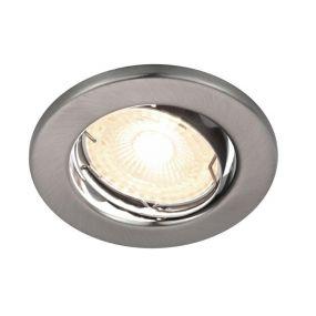 Nordlux Canis - inbouwspot - Ø 85 mm, Ø 65 mm inbouwmaat - 4,9W dimbare LED incl. - geborsteld nikkel