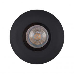 Projectlight Zeus - inbouwspot - Ø 90 mm, Ø 74 mm inbouwmaat - IP65 - zwart