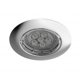Energetic Lighting Matrix I - inbouwspot - Ø 85 mm, Ø 65 mm inbouwmaat - 5,5W dimbare LED incl. - geborsteld nikkel