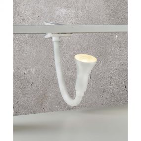 Searchlight Desk Partners - klemlamp - 30 cm - wit