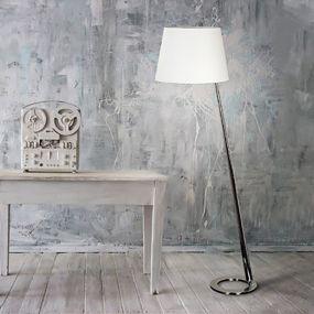 Maxlight Olsen - staanlamp - 154 cm - wit en chroom