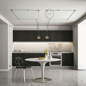Creative Cables - plafond/wand snoerbevestiging - Ø 2,2 cm - zwart