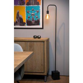 Lucide Lorin - staanlamp - 14 x 28 x 160 cm - zwart