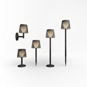 New Garden Greta - buiten tafel-, vloer-, of wandlamp op zonne-energie met USB-poort - 80 x 20 x 14 cm - IP65 - zwart