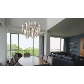 Maxlight Nemo - luster - Ø 55 x 120 cm - chroom