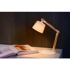 Lucide Olly - bureaulamp - 68 cm - wit