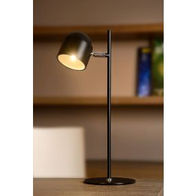Lucide Skanska - bureaulamp - 46 cm - 5W dimbare LED incl. - zwart