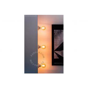 Zangra Puur Porselein - wand/plafondlamp - Ø 10 x 5,5 cm - wit