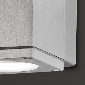 Maxlight Home Square - wandverlichting - 8 x 11 x 8 cm - IP54 - grafiet