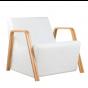 New Garden Tarida Arms - zetel met verlichting op zonne-energie  - 69 x 77 x 66 cm - 4W LED incl. - IP65  - wit