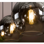 Vico Bubble Shade - hanglamp - 115 x 30 x 150 cm - gerookt glas