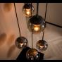 Vico Bubble Shade - Ø 45 x 150 cm - gerookt glas