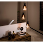 Vico Nugget Shade - hanglamp - Ø 40 x 150 cm - gerookt glas
