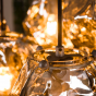 Vico Rock Chrome - hanglamp - 95 x 44 x 150 cm - chroom glas