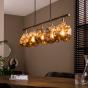 Vico Rock Chrome - hanglamp - 110 x 18 x 150 cm - chroom glas