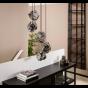 Vico Rock Chrome - hanglamp - Ø 50 x 150 cm - chroom glas