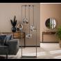 Vico Rock Chrome - vloerlamp - 51 x 25 x 180 cm - chroom glas