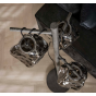 Vico Rock Chrome - Vloerlamp - Ø 47 x170 cm - chroom glas