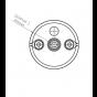 Klus JAZ Duo N - eindkapje met bevestigingspunt voor kabel - grijs